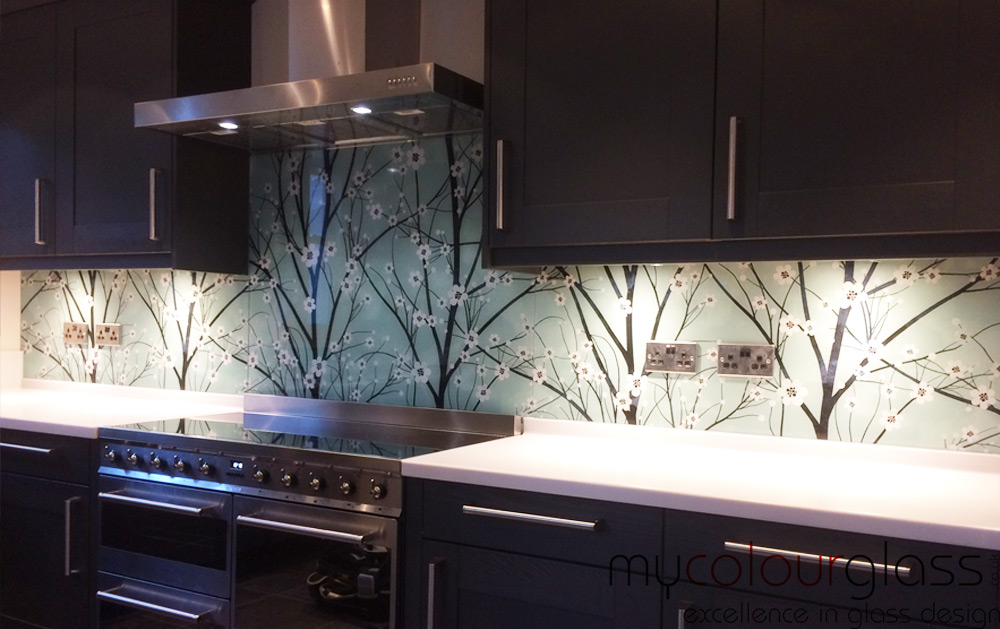 glass splashbacks in Perth, WA create bespoke piece