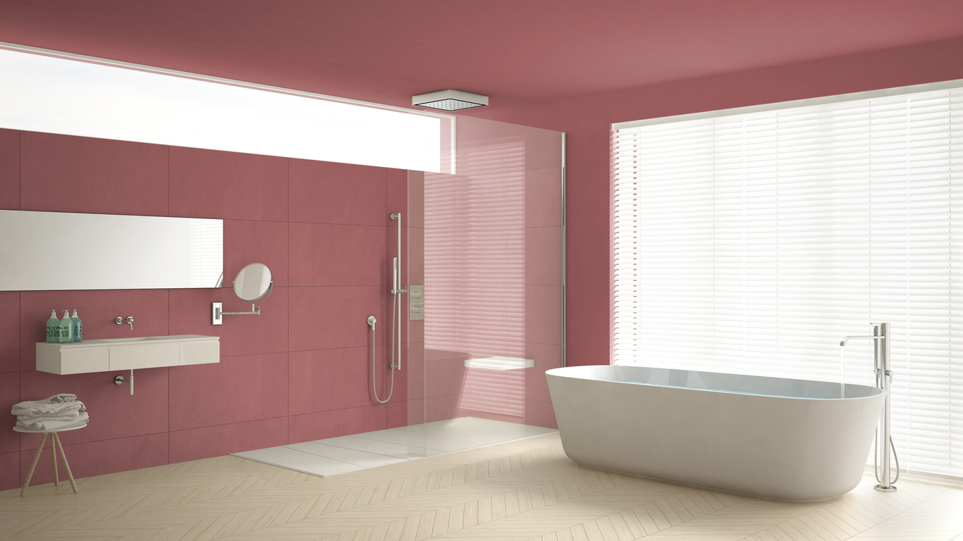 A Practical Stylish Bathroom Cladding Idea